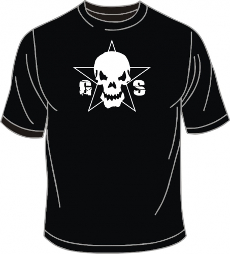 T-Shirt, Guilty Skull, schwarz