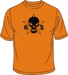 T-Shirt, Guilty Skull, orange