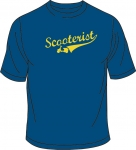 "T-Shirt royalblau, Print gelb ""Scooterist"" New"