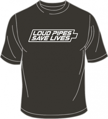 T-Shirt, Loud Pipes Save Lives, oliv