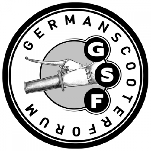 "Patch gestickt ""GSF- German Scooter Forum"""